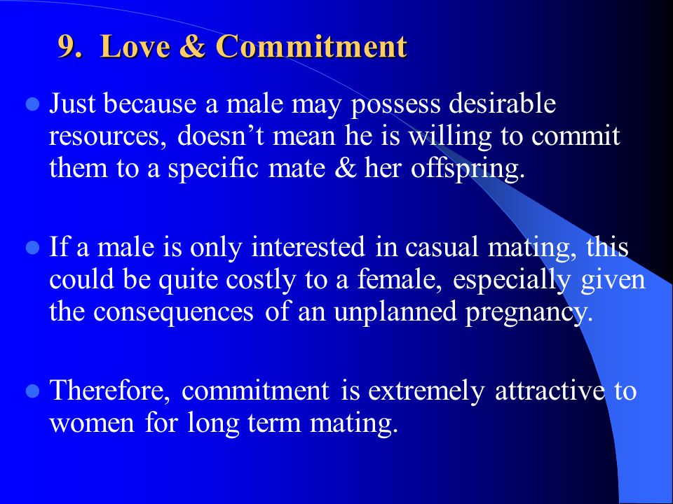 9. Love & Commitment
