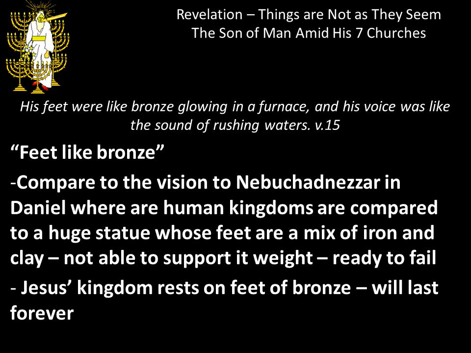 Jesus' kingdom rests on feet of bronze – will last forever