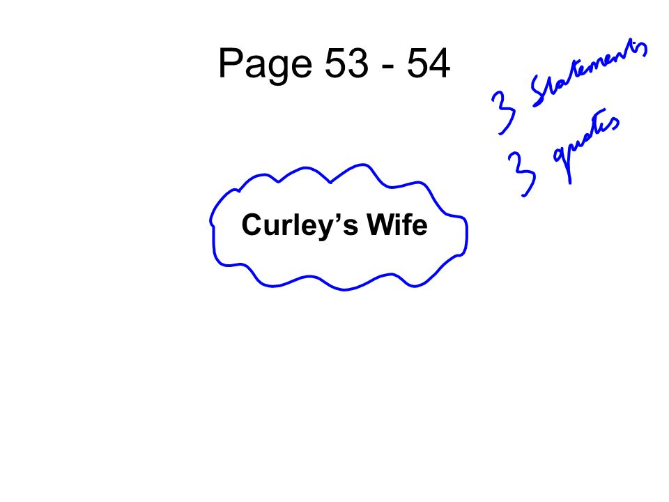 Page Curley's Wife