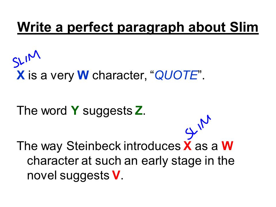 Write a perfect paragraph about Slim