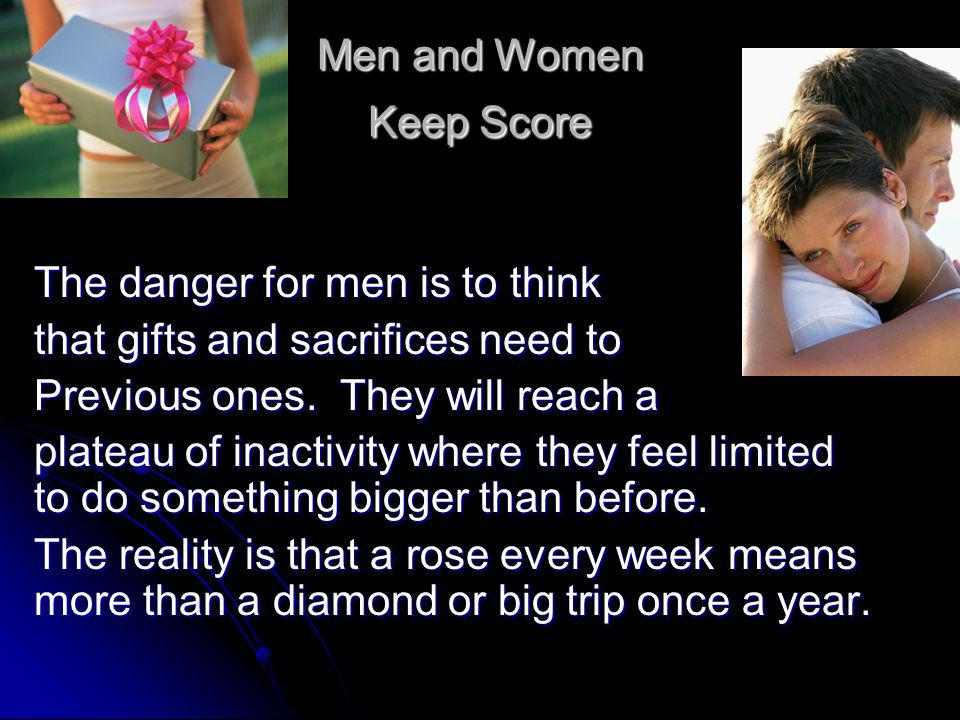 Men and Women Keep Score