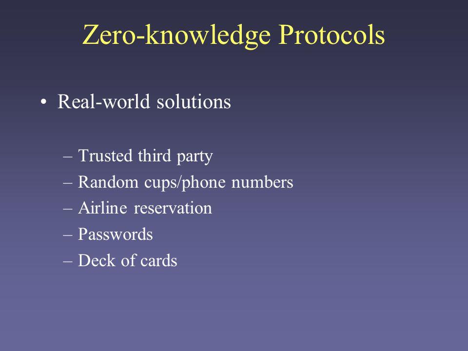 Zero-knowledge Protocols
