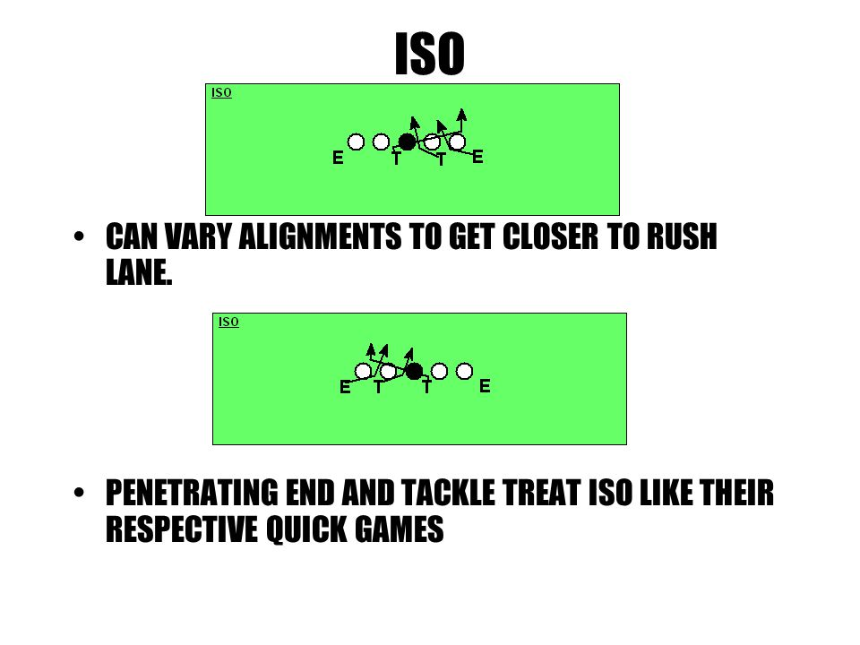 ISO CAN VARY ALIGNMENTS TO GET CLOSER TO RUSH LANE.