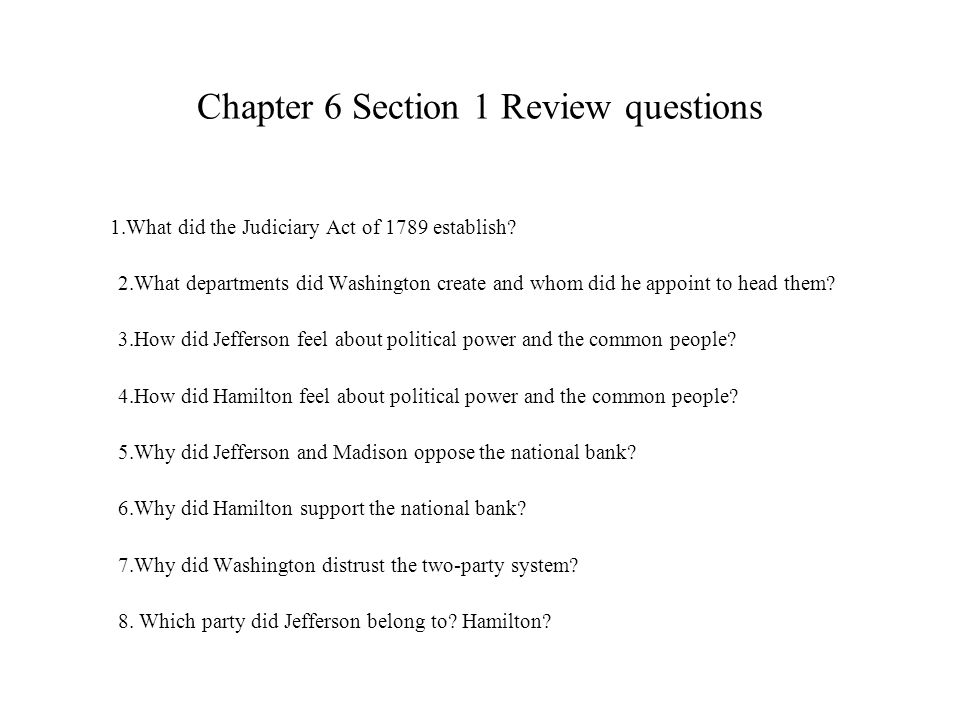 Chapter 6 Section 1 Review questions