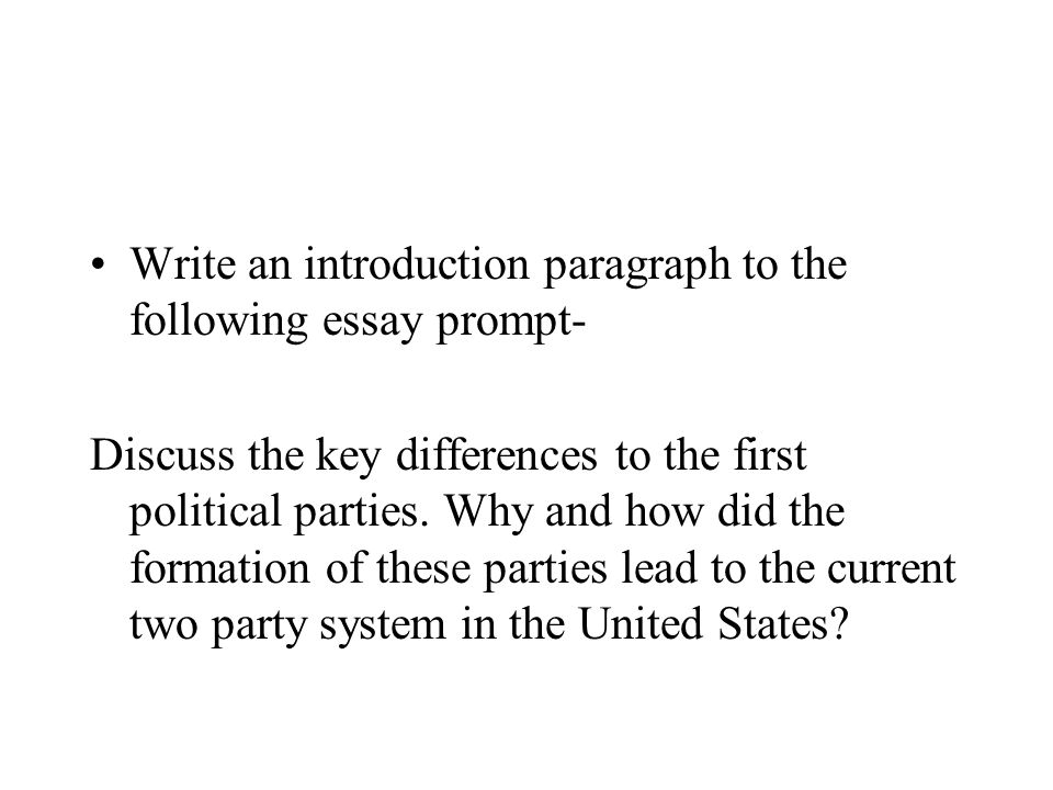 Write an introduction paragraph to the following essay prompt-
