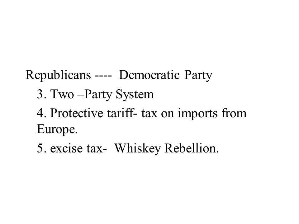 Republicans ---- Democratic Party