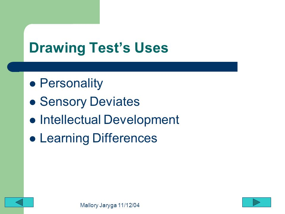 Drawing Test's Uses Personality Sensory Deviates
