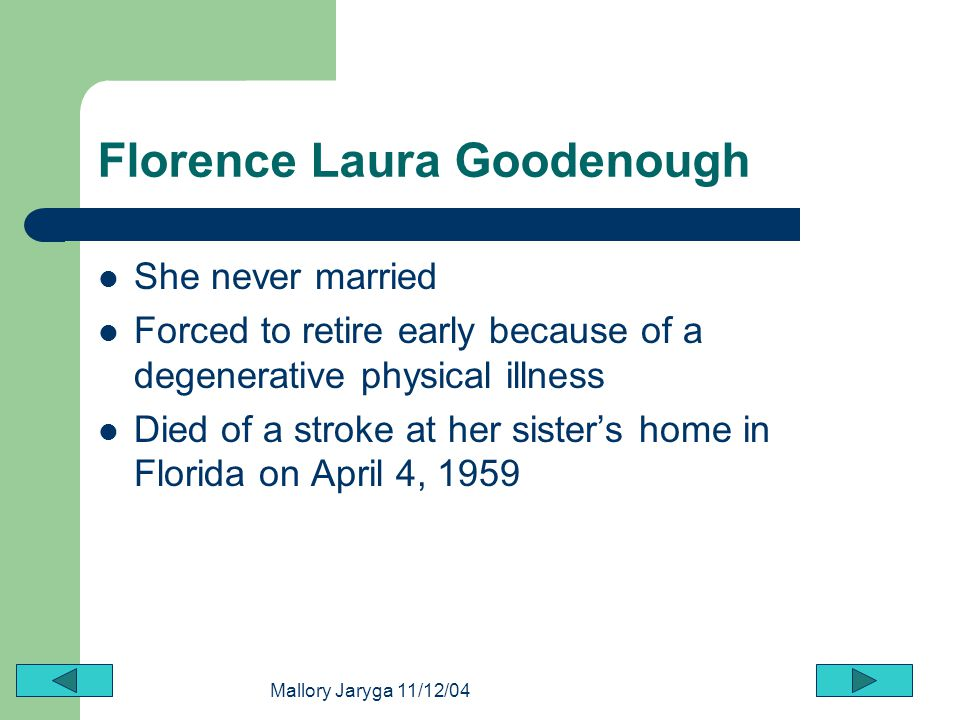 Florence Laura Goodenough