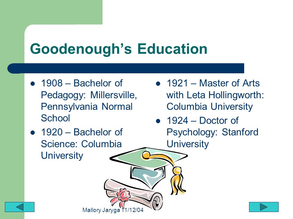 Goodenough's Education