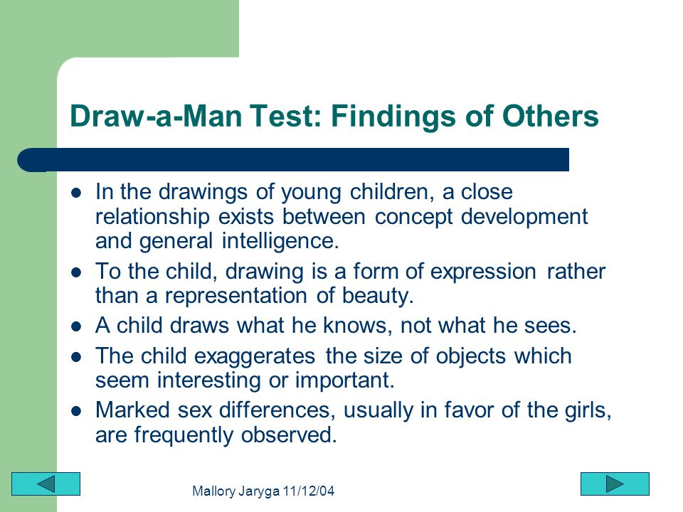 Draw-a-Man Test: Findings of Others