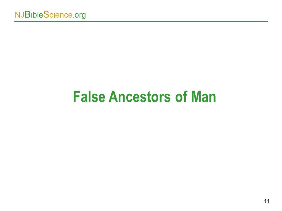 False Ancestors of Man As above. 11 11