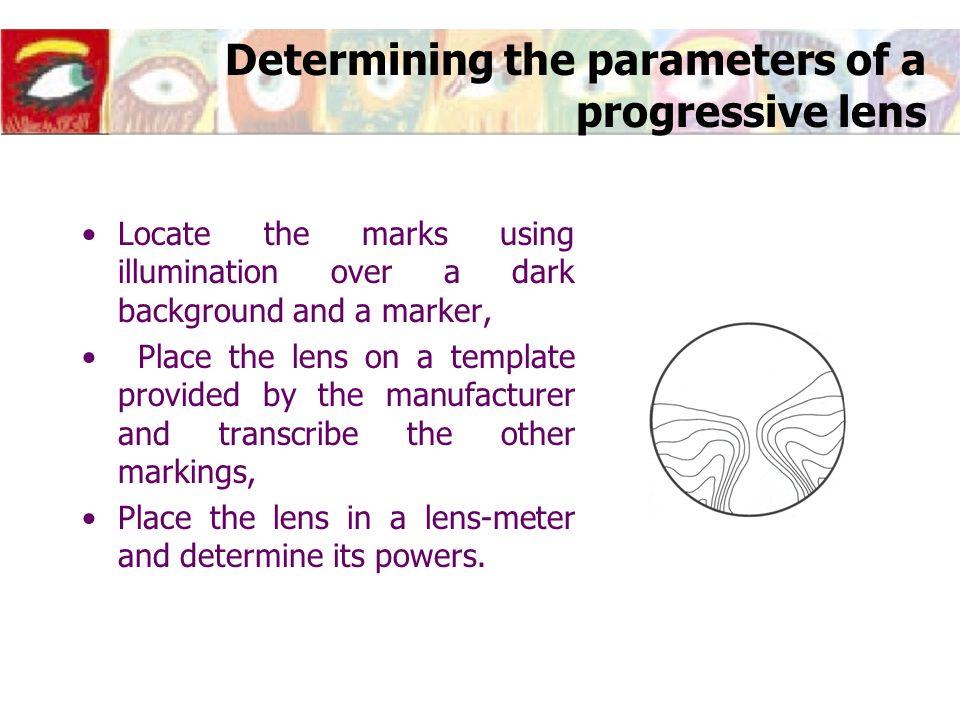 Determining the parameters of a progressive lens