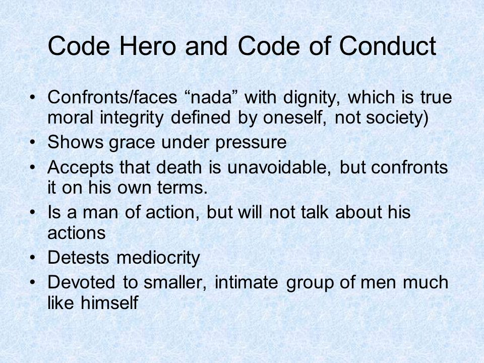 Code Hero and Code of Conduct
