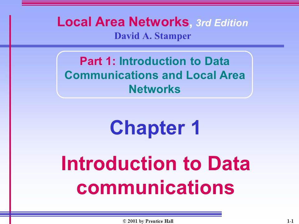 Local Area Networks, 3rd Edition David A. Stamper