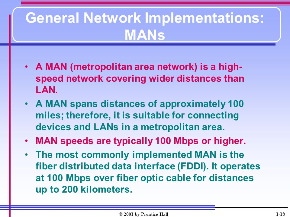 General Network Implementations: MANs