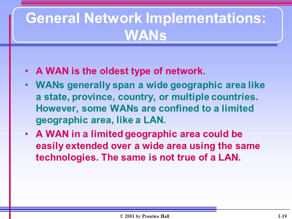 General Network Implementations: WANs
