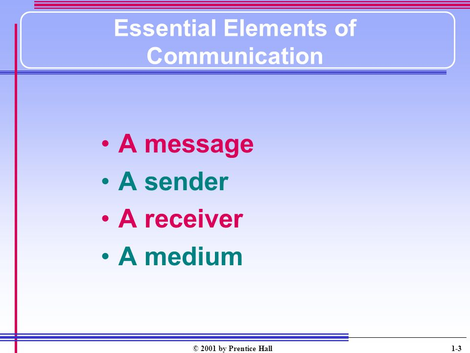 Essential Elements of Communication