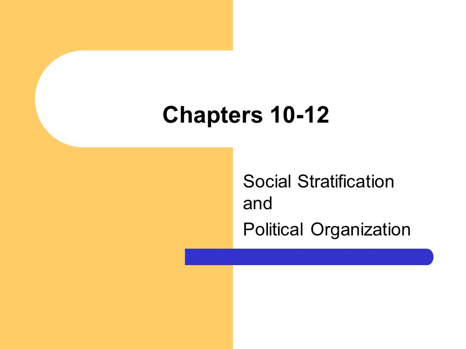 Social Stratification and Political Organization