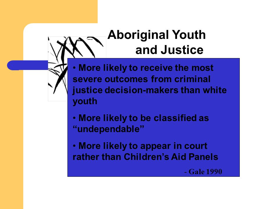 Aboriginal Youth and Justice