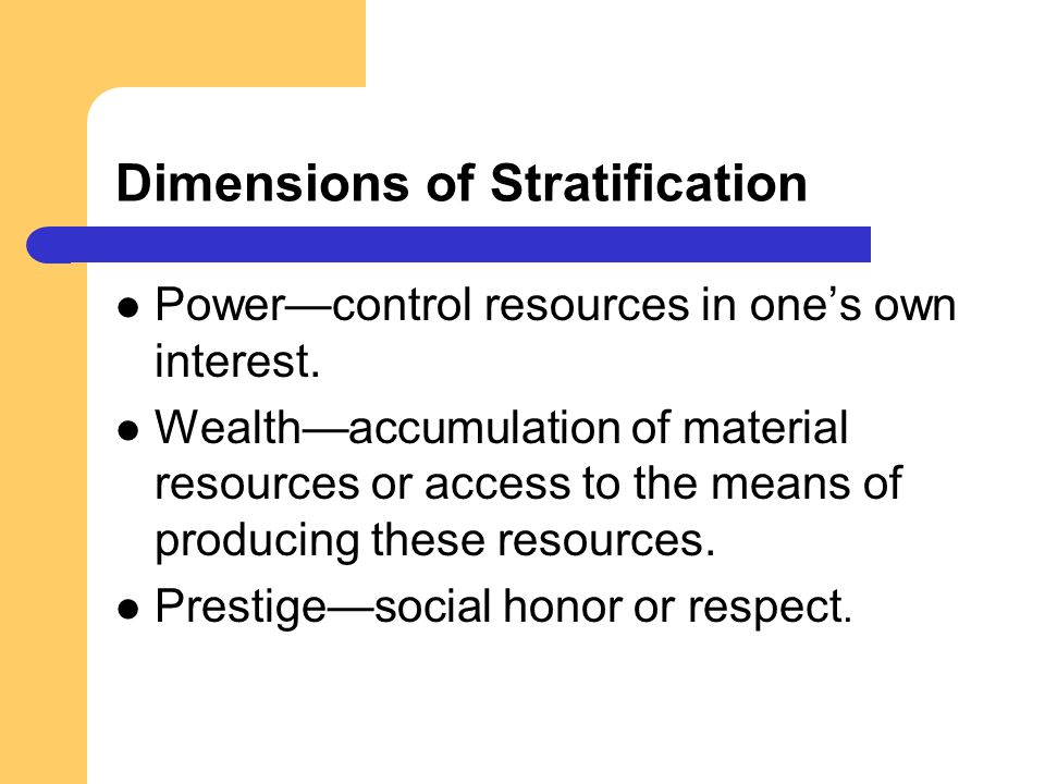 Dimensions of Stratification