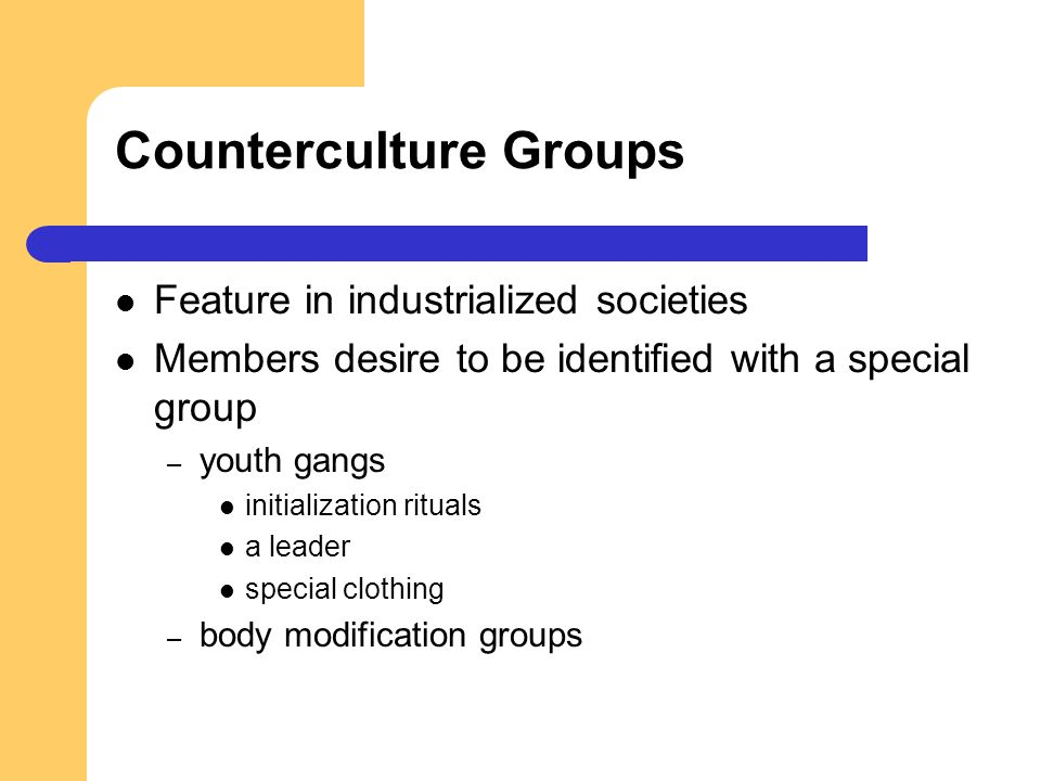 Counterculture Groups