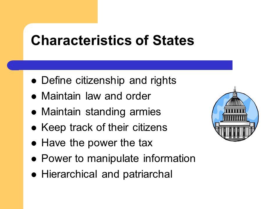 Characteristics of States