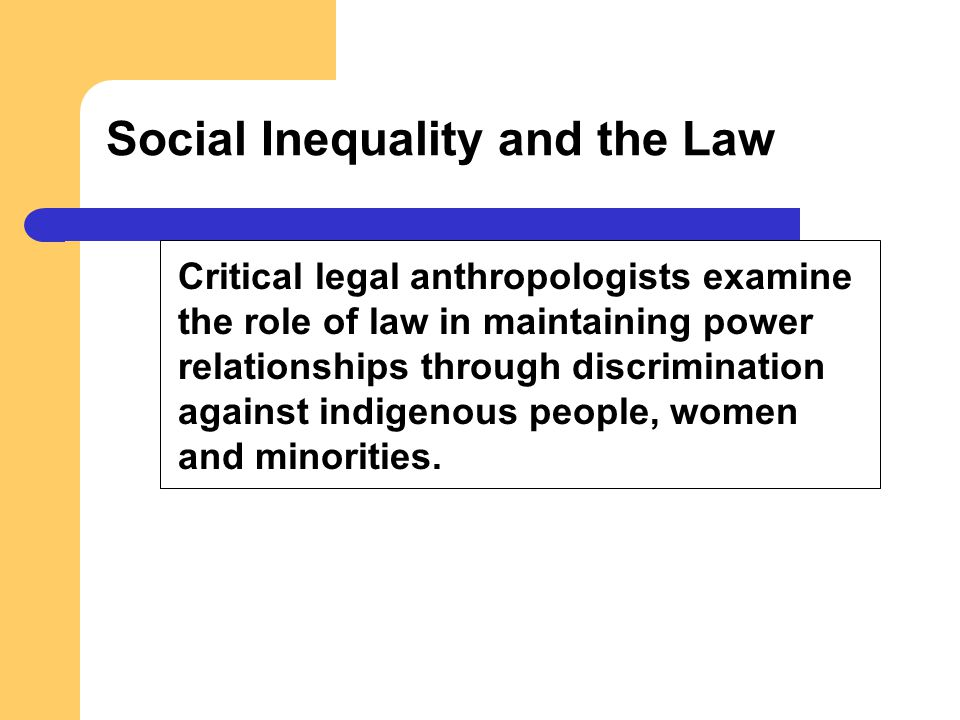 Social Inequality and the Law