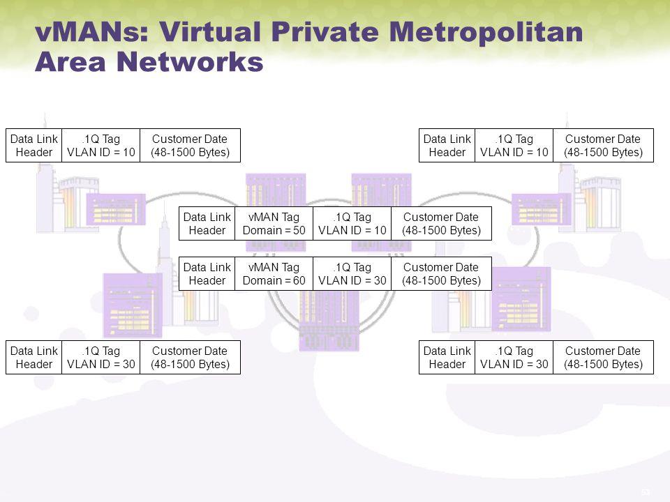 vMANs: Virtual Private Metropolitan Area Networks