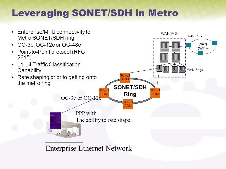 Leveraging SONET/SDH in Metro