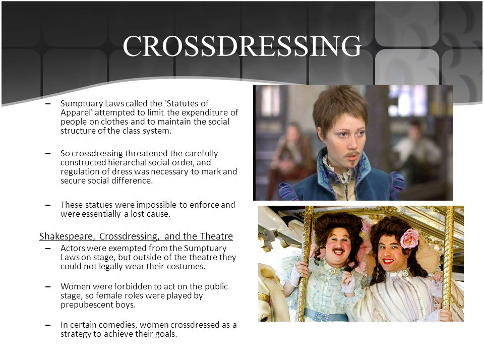 CROSSDRESSING Shakespeare, Crossdressing, and the Theatre