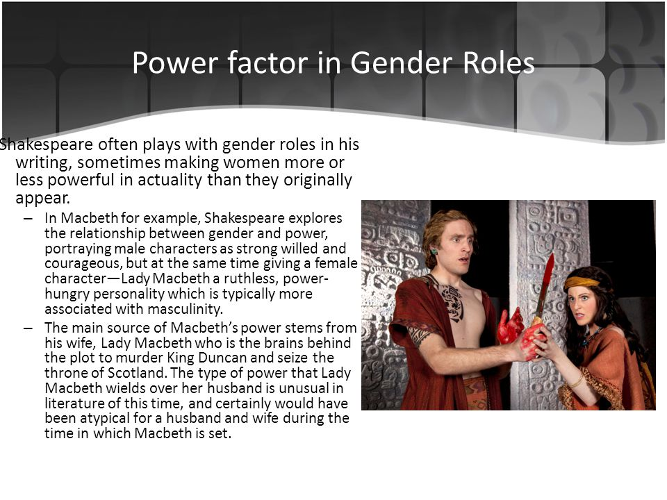 Power factor in Gender Roles