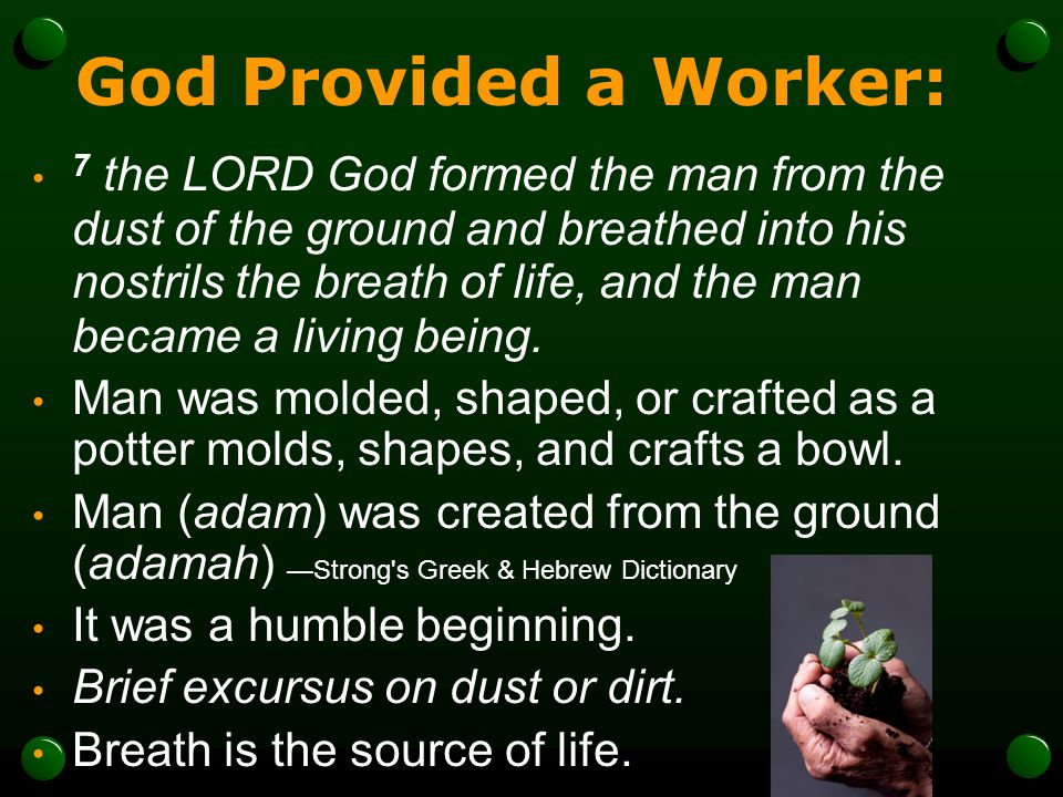 God Provided a Worker: