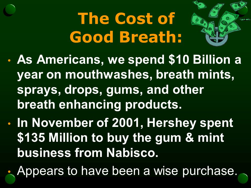 The Cost of Good Breath: