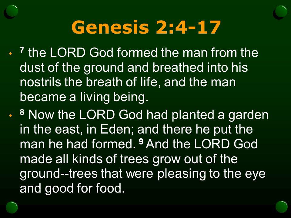 Genesis 2:4-17
