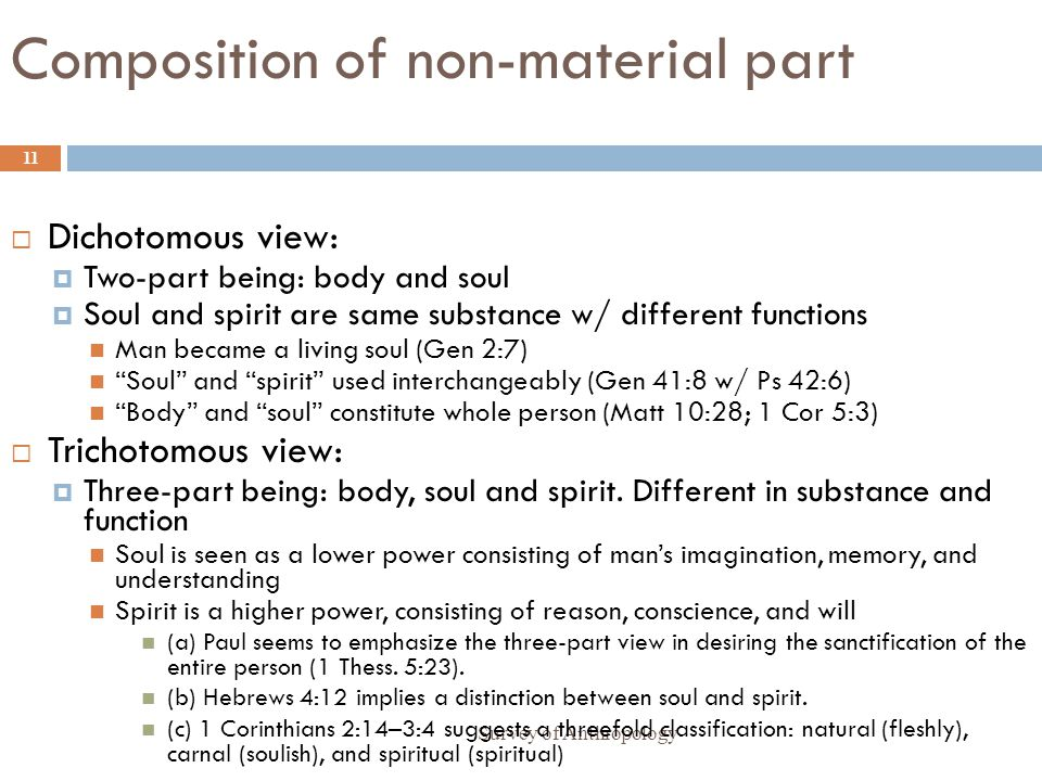 Composition of non-material part