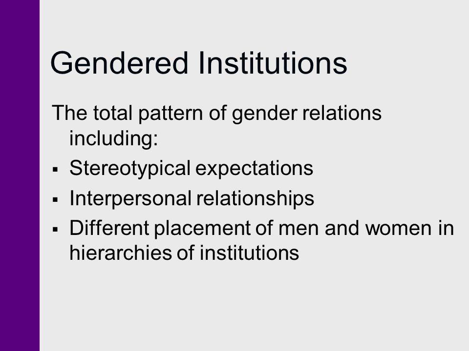 Gendered Institutions