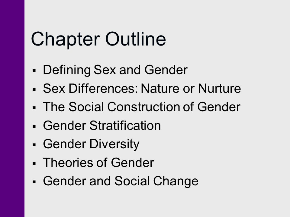 Chapter Outline Defining Sex and Gender