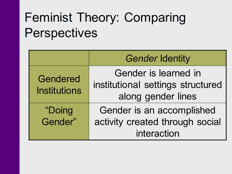 Feminist Theory: Comparing Perspectives