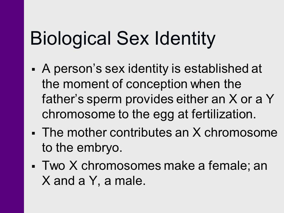 Biological Sex Identity