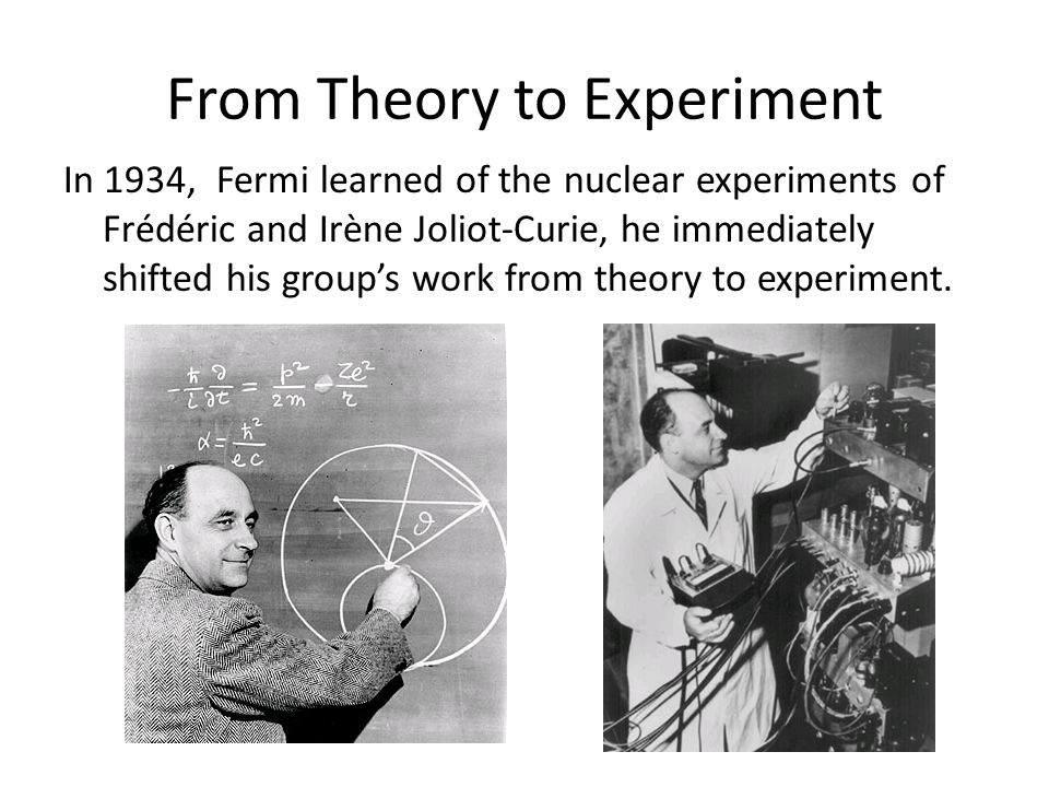 From Theory to Experiment