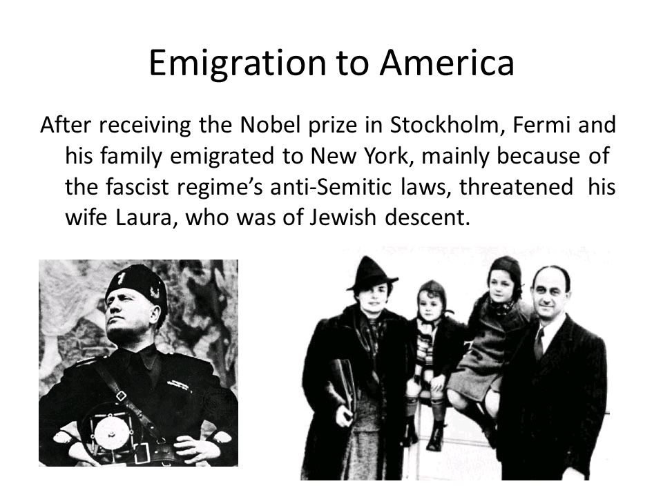 Emigration to America