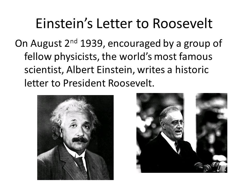 Einstein's Letter to Roosevelt