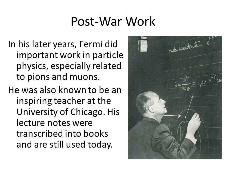 Post-War Work