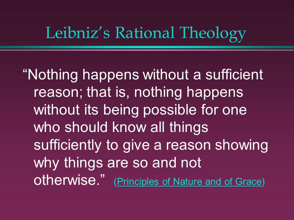 Leibniz's Rational Theology