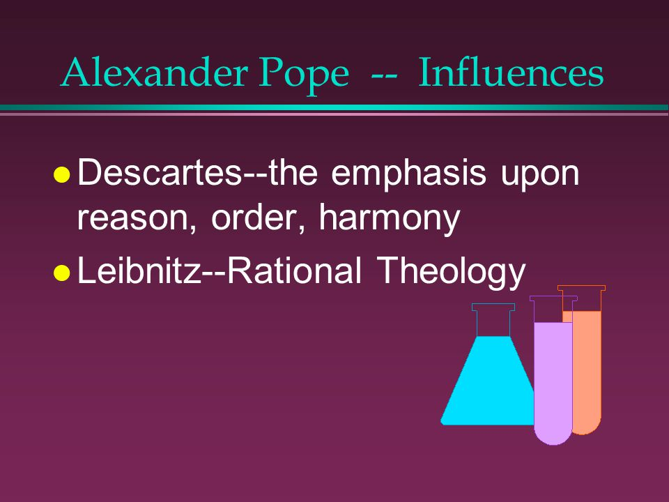 Alexander Pope -- Influences
