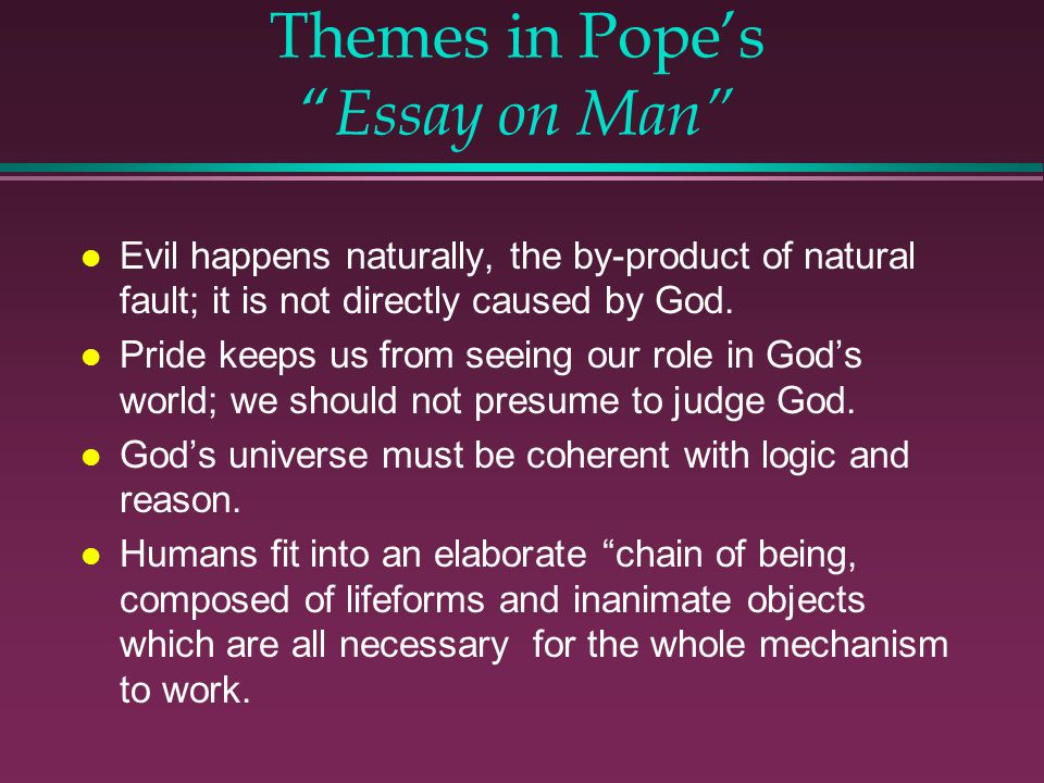 Themes in Pope's Essay on Man