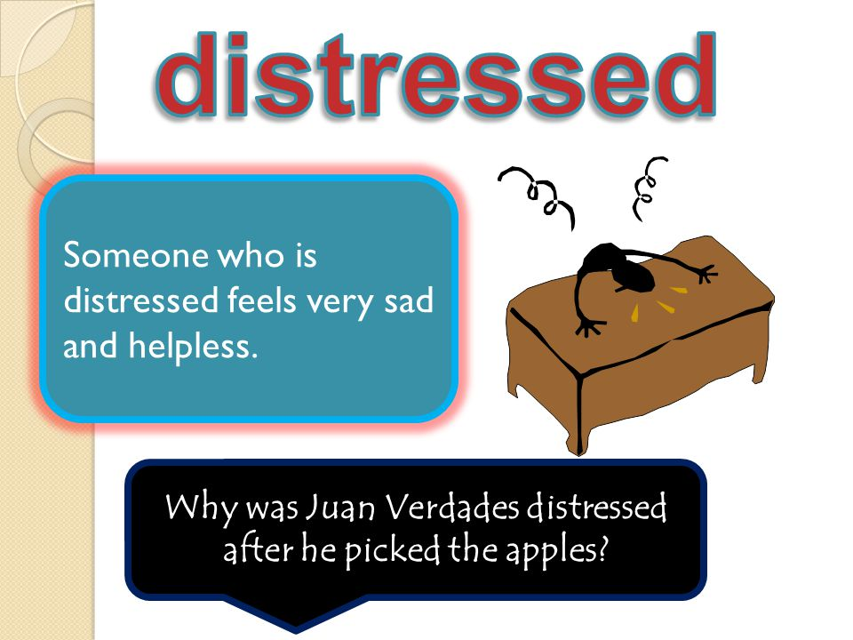 Why was Juan Verdades distressed after he picked the apples