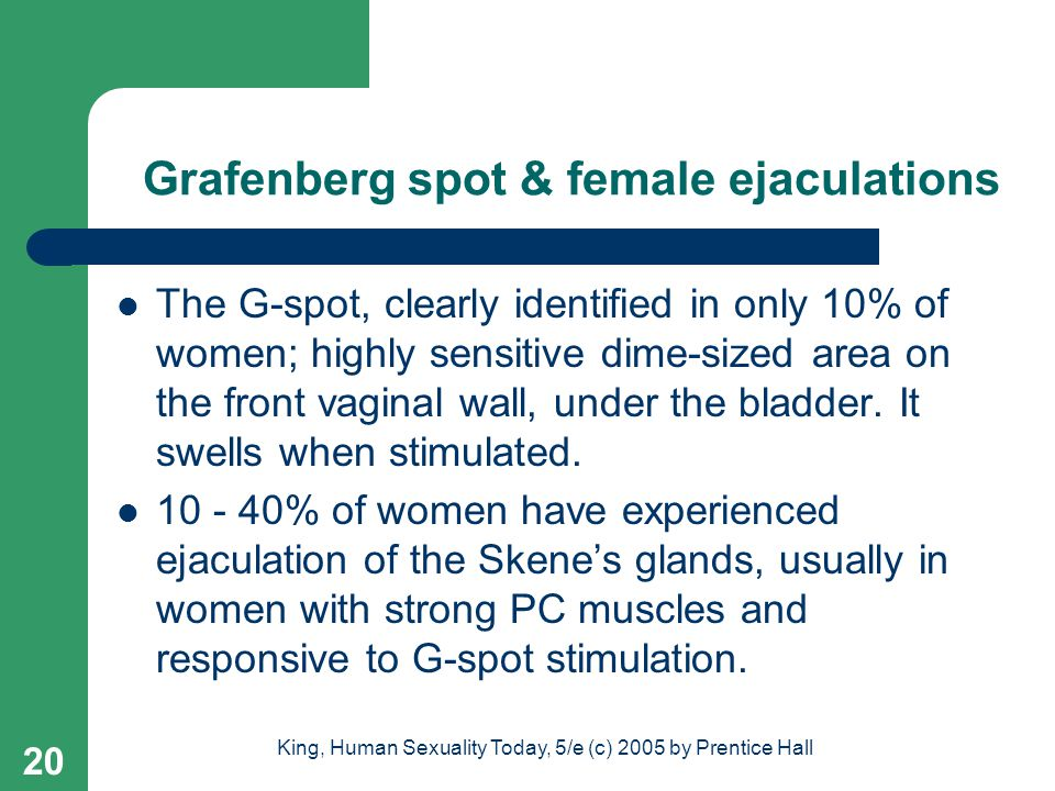 Grafenberg spot & female ejaculations