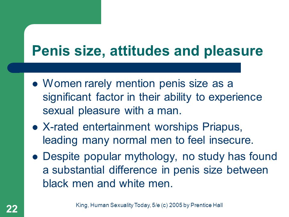 Penis size, attitudes and pleasure