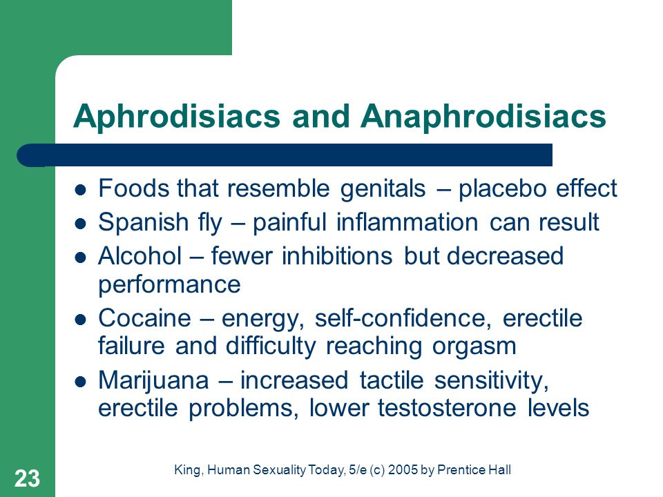 Aphrodisiacs and Anaphrodisiacs